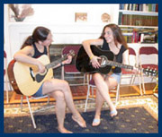 Guitar duet at Newton Music Academy in Needham Massachusetts.Music & Dancing Center in the Boston area MA, Newton and Needham Massachusetts
